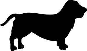 Basset hound clipart free.