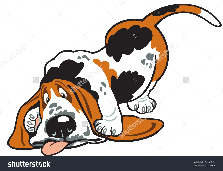 Cartoon hound dog vector clipart.