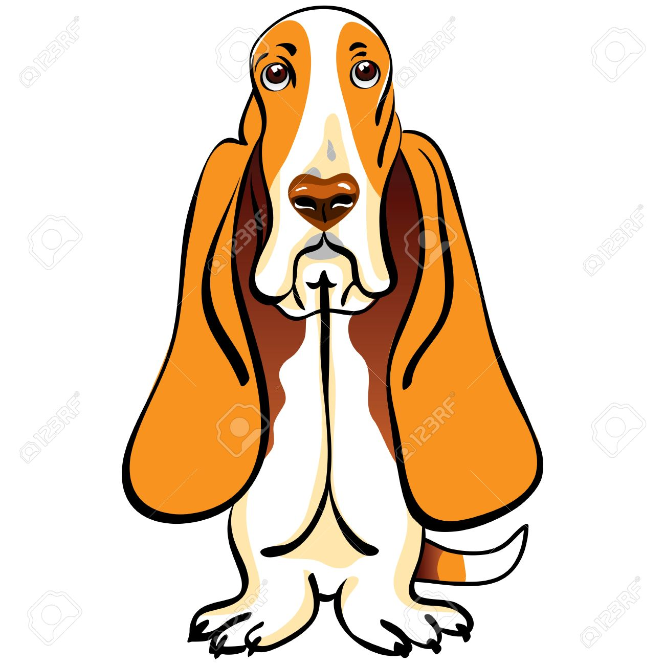 Basset hound clip art.