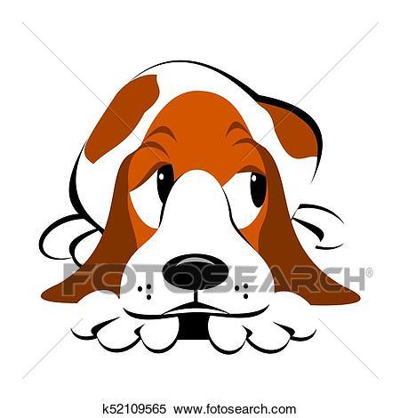 Basset Hound Cartoon Clipart.