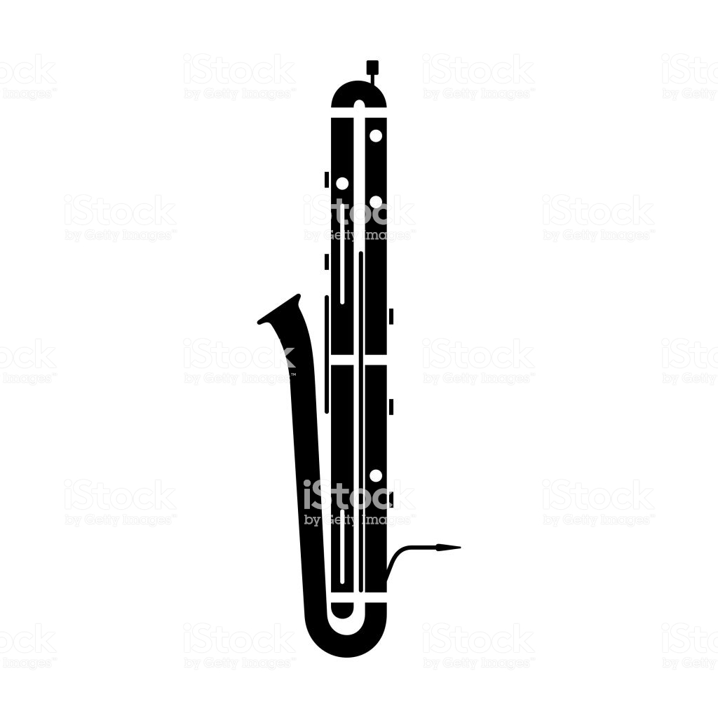 Contrabassoon Instrument Stock Illustration.