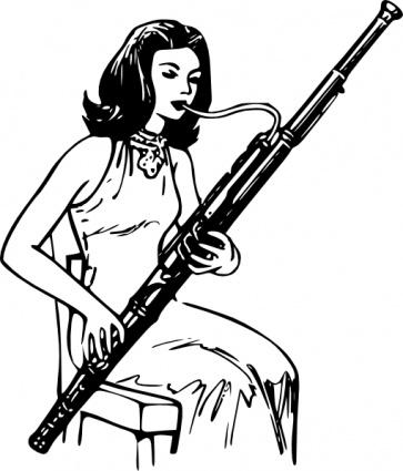 Bassoon Clip Art.