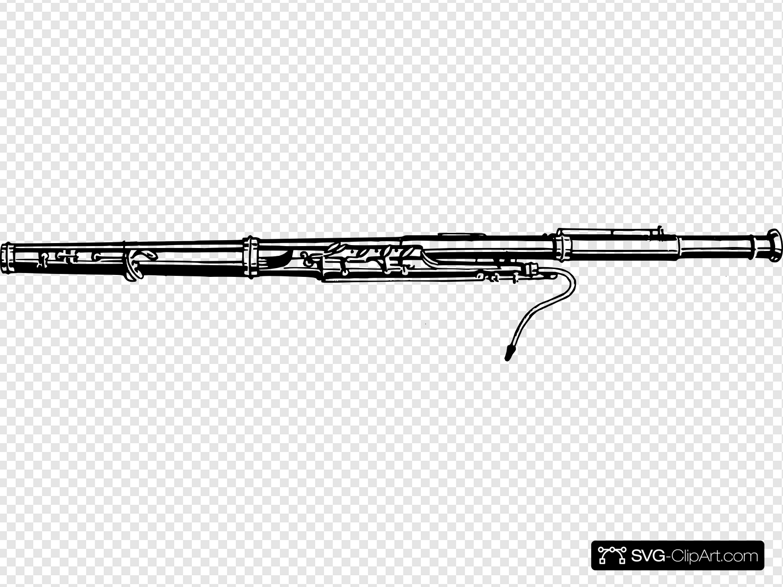Bassoon Clip art, Icon and SVG.