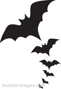 Flying Bats Clipart.