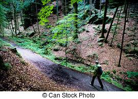 Stock Photo of Bastei in Saxon Switzerland.