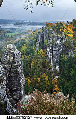 "Picture of ""View from Ferdinandstein over the autumnal Bastei."