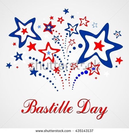 14th July Bastille Day France Happy Stock Illustration 295209170.