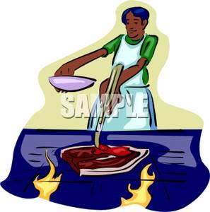 A_man_basting_a_steak_on_a_grill_110509.