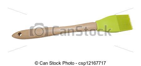 Stock Photography of green basting brush.