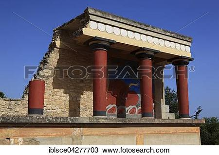 Stock Photo of Bastion, Palace of the Minoans, Knossos, Crete.
