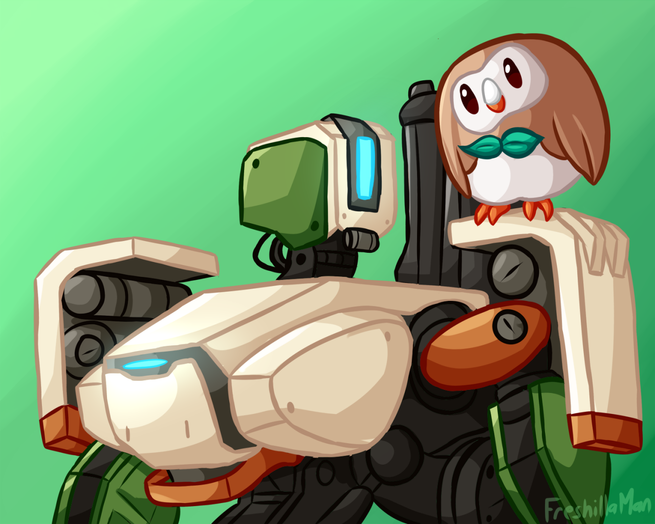 Rowlet and Bastion.