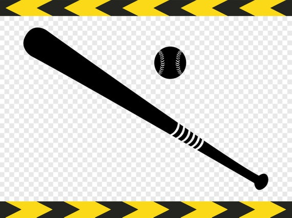 Softball bat ball SVG Clipart Silhouette pictures Cut files for Cricut  designs Dxf Pdf Png.