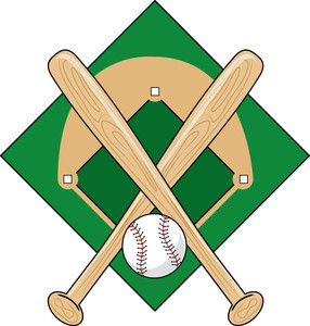 Crossed Baseball Bat Clipart.