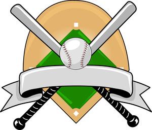 Baseball Ball And Bat Clip Art.