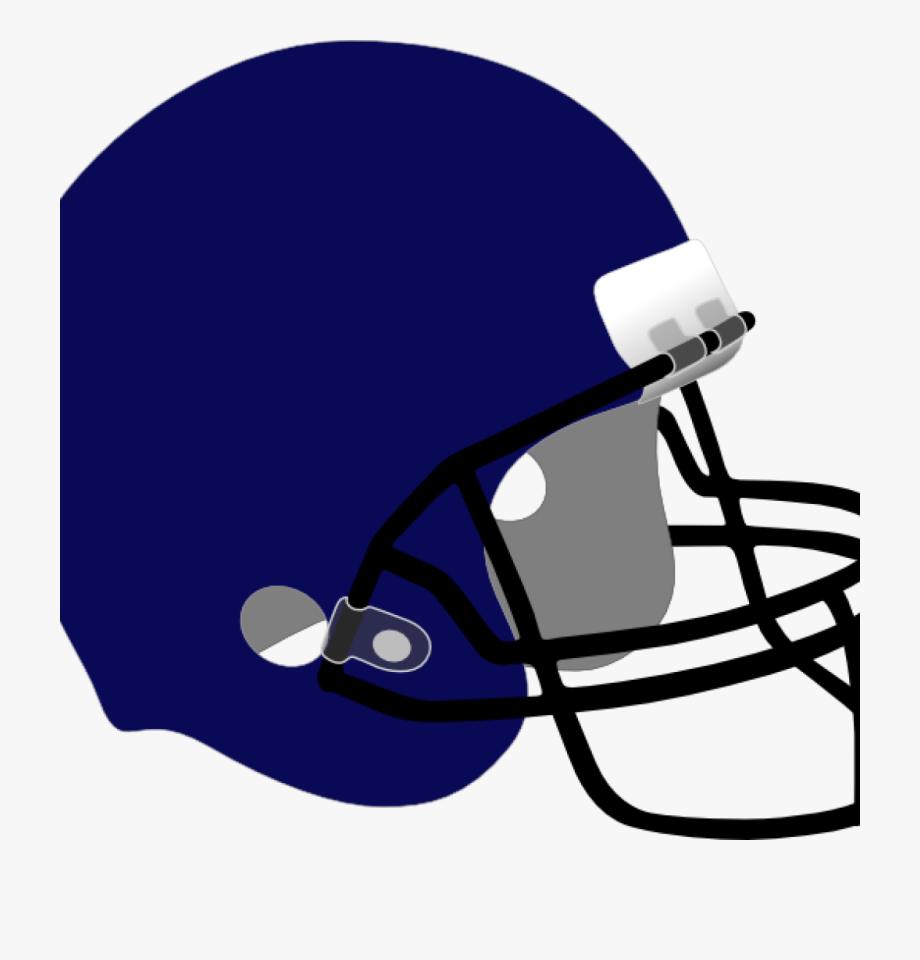 White Blue Football Helmet , Transparent Cartoon, Free.