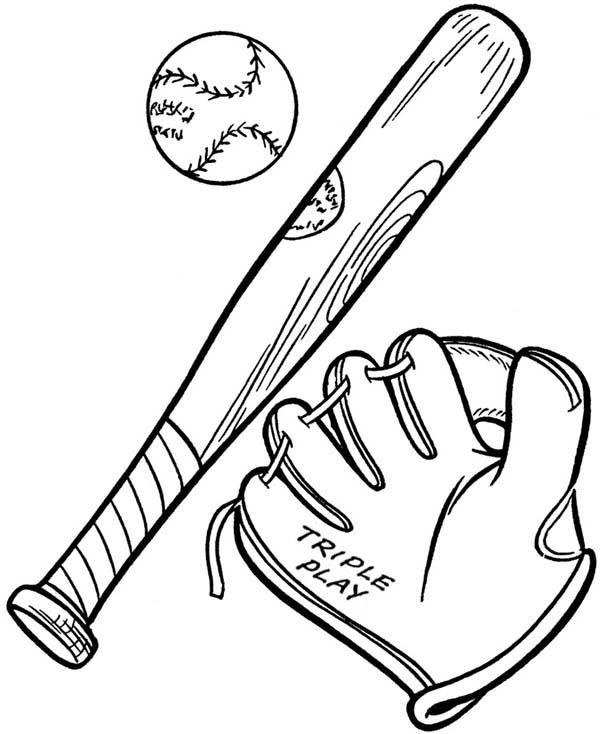 Bat And Glove Clipart.