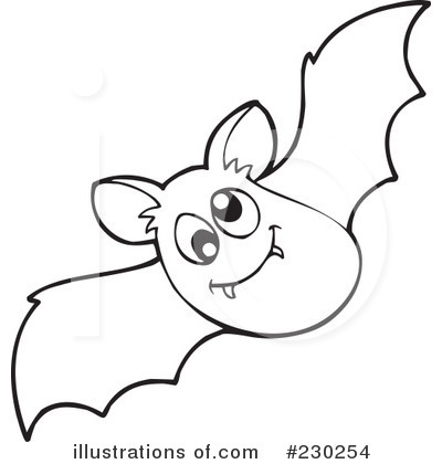 Bat black and white clipart 3 » Clipart Station.