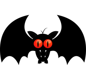 Halloween Bat Clipart Black And White.