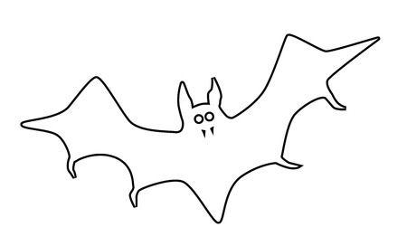 Bat outline clipart 4 » Clipart Station.