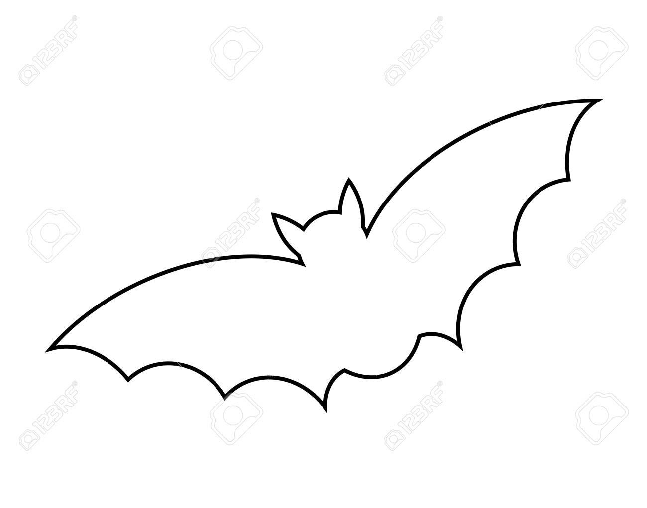 Bat Clipart Outline.