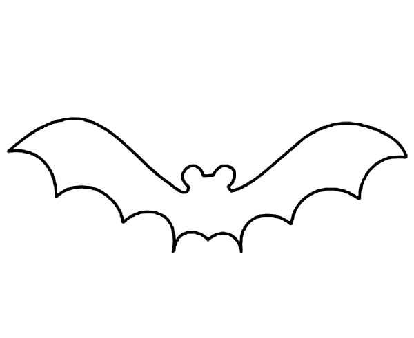 Free Bat Outline, Download Free Clip Art, Free Clip Art on Clipart.