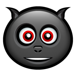 Happy Bat Face Icon, PNG ClipArt Image.
