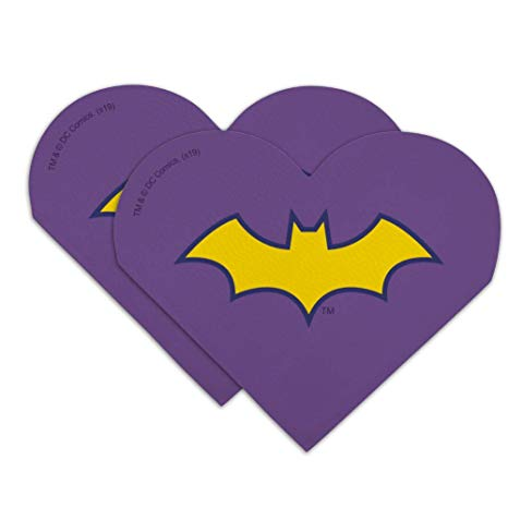 Amazon.com : Batman Batgirl Logo Heart Faux Leather Bookmark.