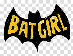 black and yellow Batgirl logo transparent background PNG.