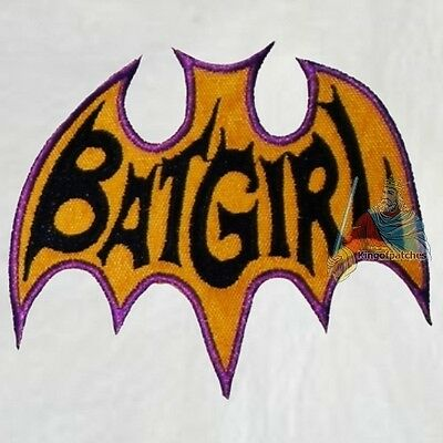 Batman Batgirl Logo Serie of Yvonne Craig Embroidered Patch Adam West 1966  Joker.