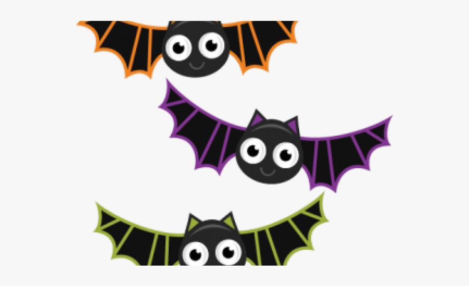 Cute Halloween Bats Clipart #113296.