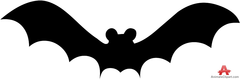 Bat Silhouette Clipart.