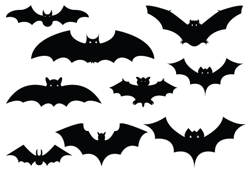 Bat Silhouette Vector Pack Download Halloween Day.