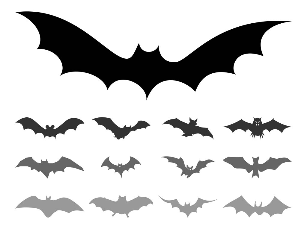 Bat Silhouettes Vector Art & Graphics.