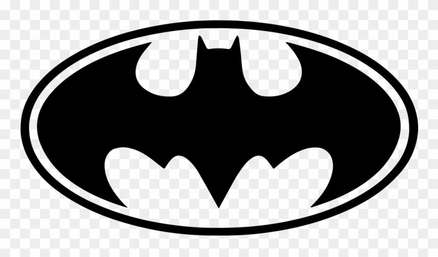 Batman Bat Signal Logo White Black Vector Symbol.