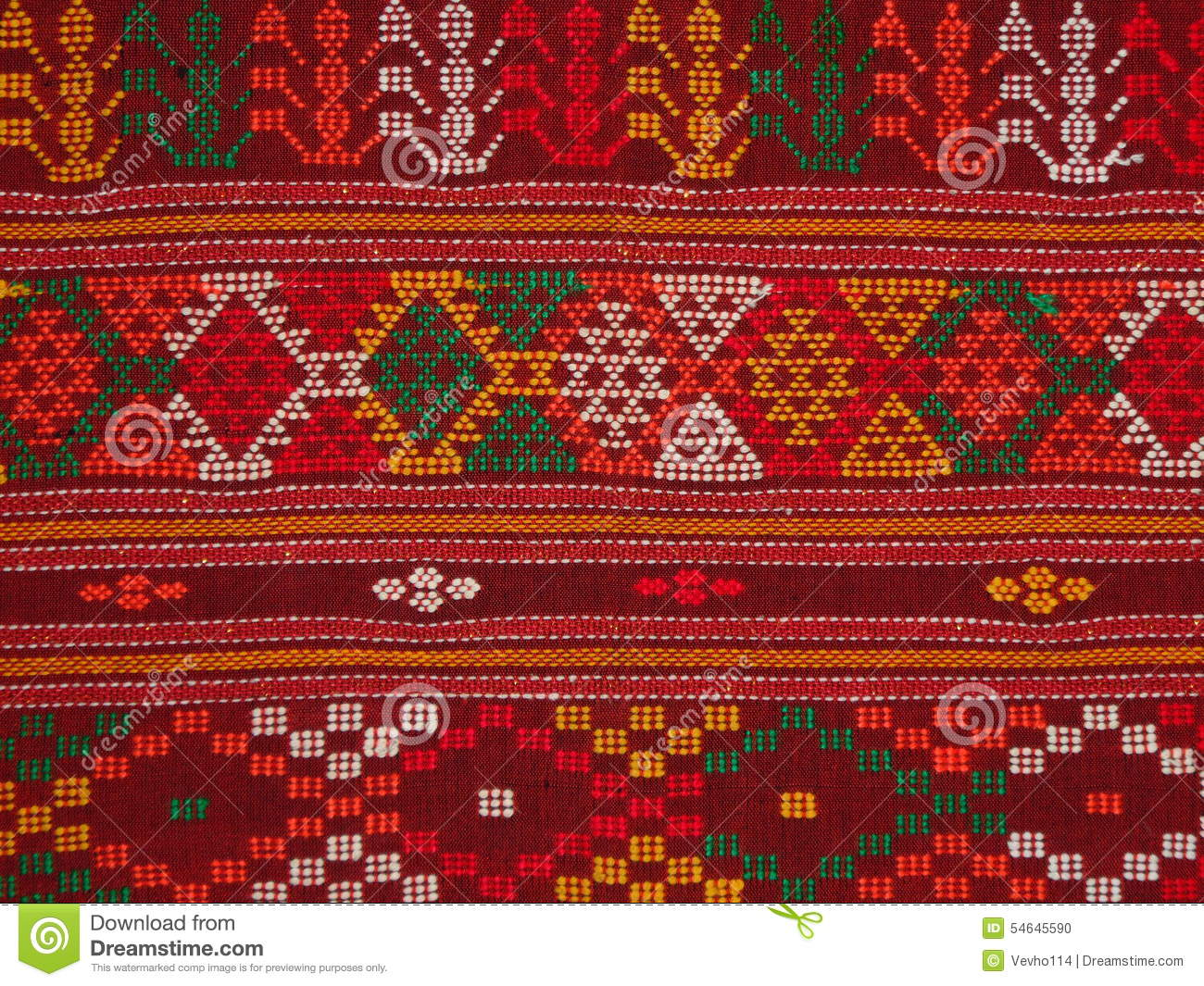 Traditional Cloth Called Ulos Batak Stock Photo.