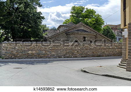 Stock Photo of Photo of very old church in Batak k14593852.