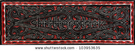 Batak People Intricate Wood Pattern Carving Stock Photo 103953620.