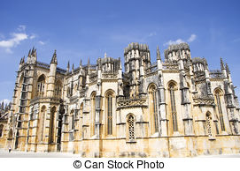 Picture of Batalha Monastery. Unesco site, Portugal.