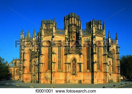 Stock Photography of Portugal, Batalha, Unfinished chapels.