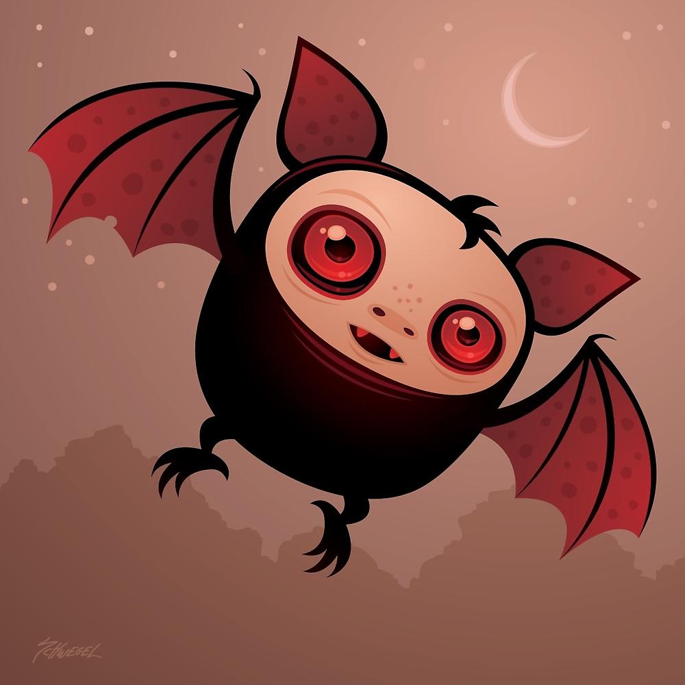 "RedEye the Vampire Bat Boy"" by fizzgig."