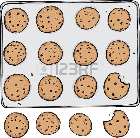 Batch of cookies clipart.