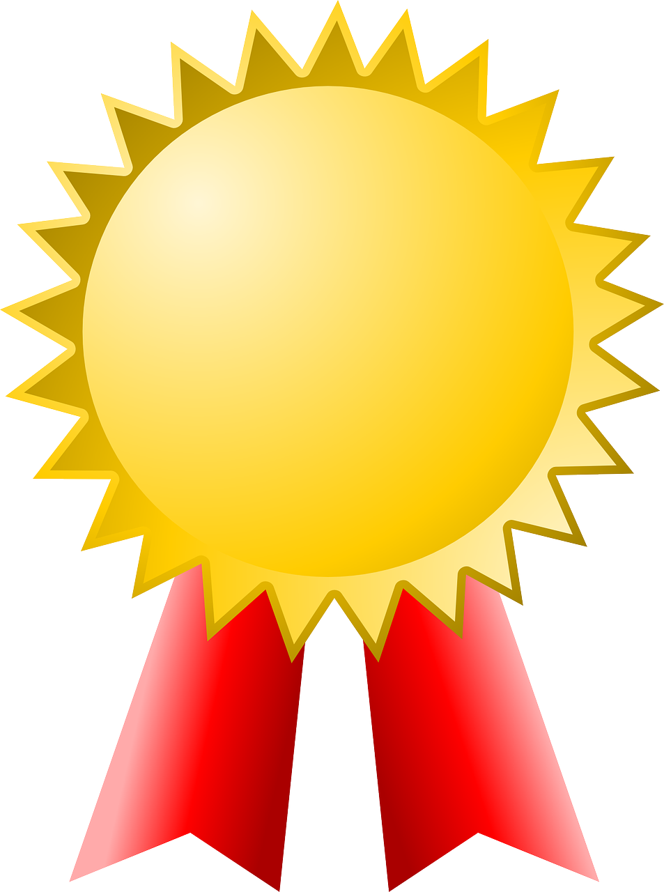 Award Gold Winner Badge PNG.