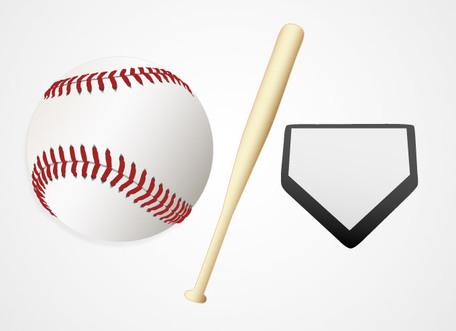 Baseball Ball and Bat Vector Graphics (Free), Clip Art.