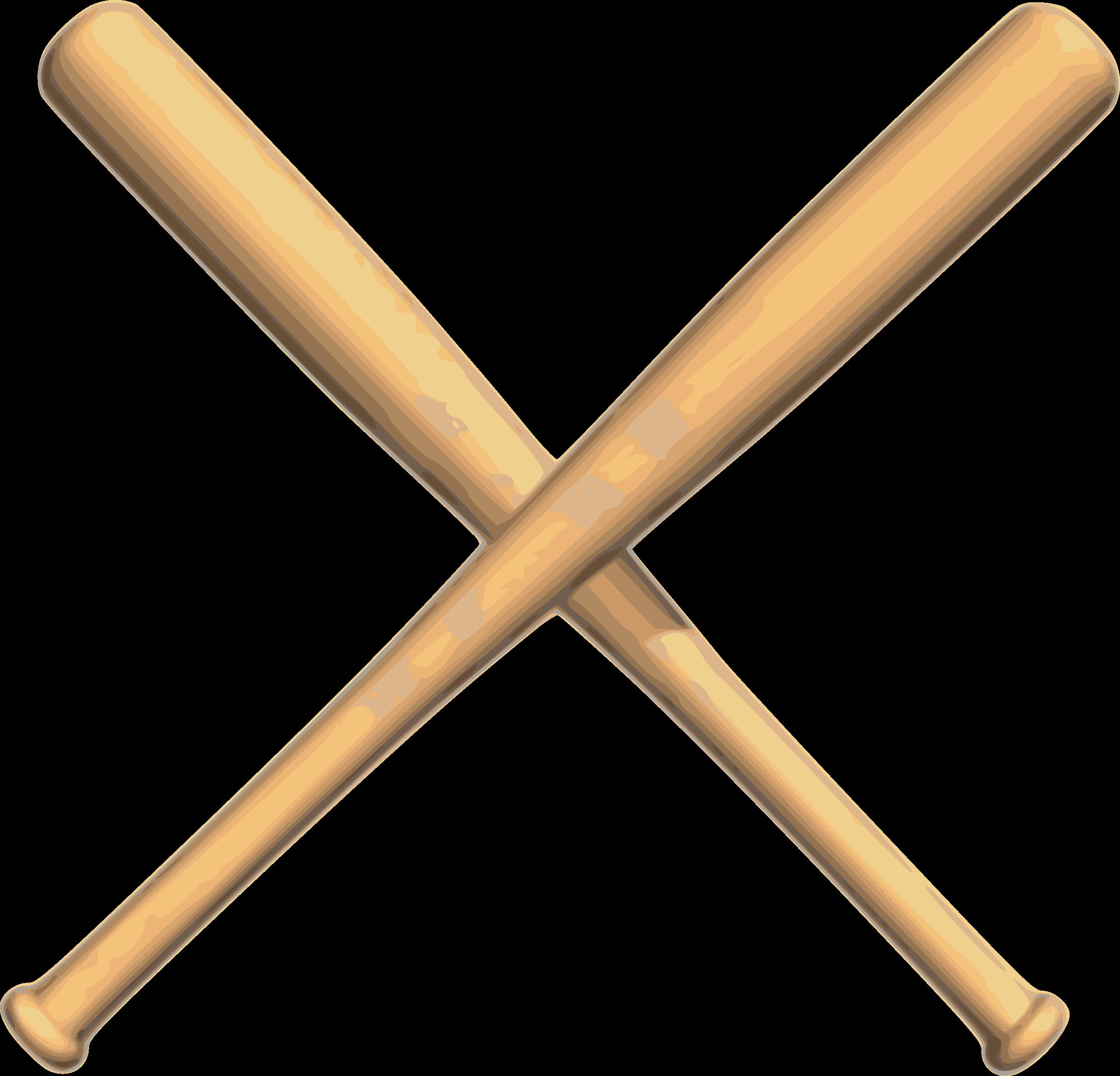 Baseball bat baseball crossed bats clipart.
