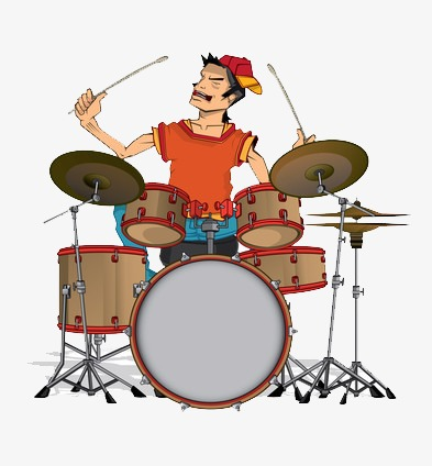 Drummer PNG clipart.