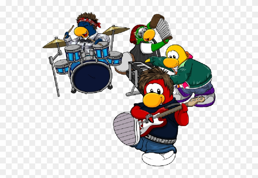 Club Penguin Cartoon Picture Images Wondering Clip.