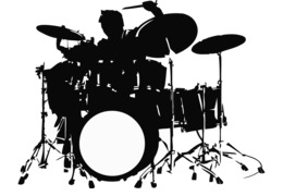 Download silhueta baterista png clipart Drummer Drum Kits.