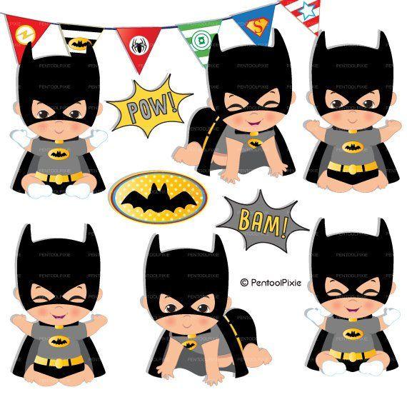 Bat baby clipart clipart, Superhero baby, Baby shower, Baby.