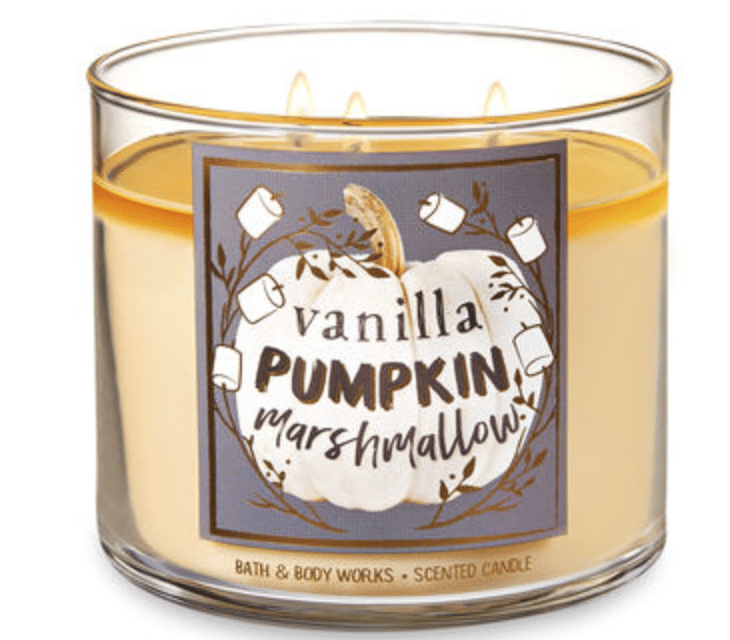 Bath & Body Works Fall 2018 Candles Available Scents.
