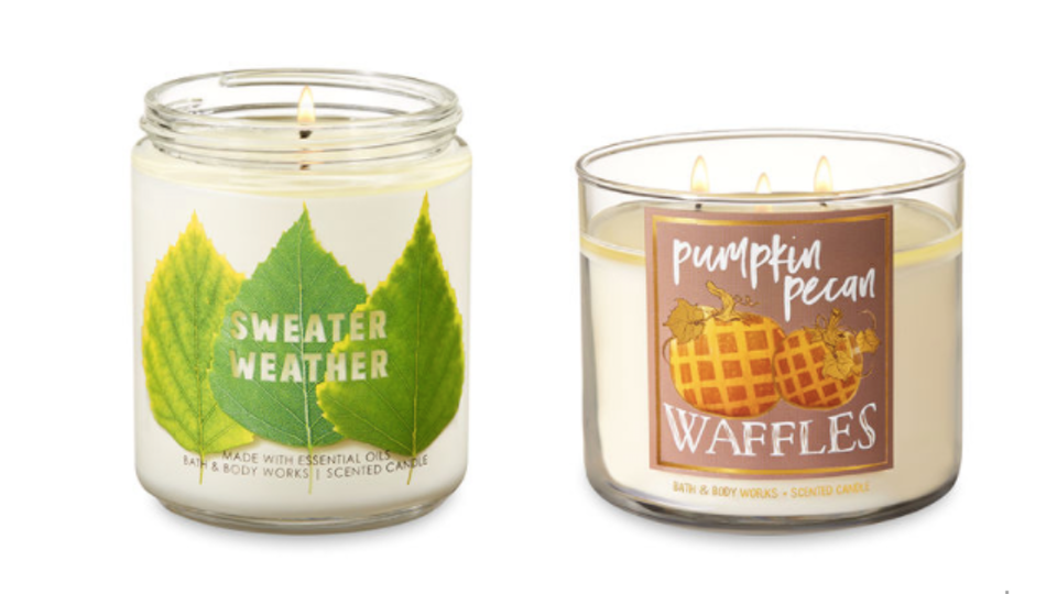 Bath & Body Works's Fall 2018 Candle Collection Is *Literally.